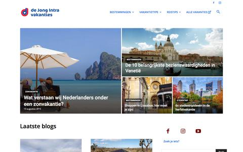 Screenshot of Blog dejongintra.nl - Blog - De Jong Intra Vakanties | Blog - captured Nov. 13, 2019