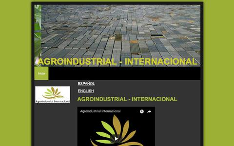 Screenshot of Home Page agroindustrial.net - Agroindustrial Internacional - Inicio - captured Oct. 6, 2017