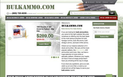 Screenshot of Home Page bulkammo.com - Bulk Ammo - captured Sept. 23, 2018