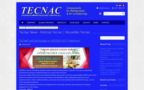 Screenshot of Press Page tecnac.net - Tecnac News - Noticias Tecnac | Nouvelles Tecnac - captured Nov. 22, 2017