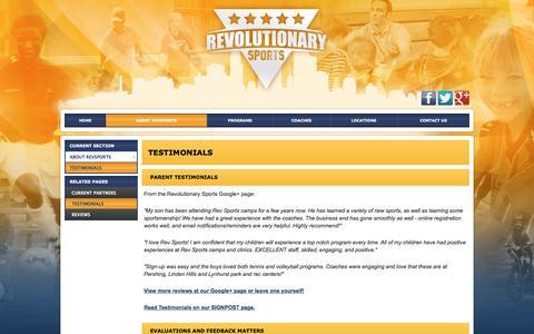 Screenshot of Testimonials Page pla-it.com - Testimonials - captured July 13, 2016
