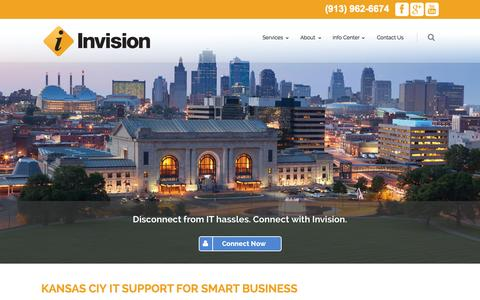 Screenshot of Home Page invisionkc.com - Kansas City IT Support | Invision - captured Oct. 6, 2014