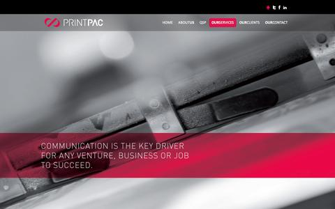 Screenshot of Services Page printpac.ae - Printpac IMPZ | Commercial Offset Printing Press in Dubai - captured Feb. 9, 2016