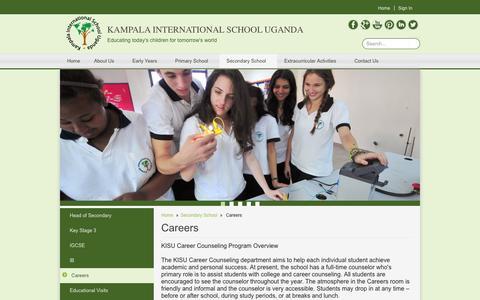 Screenshot of Jobs Page kisu.com - Careers   Kampala International School Uganda - captured Oct. 6, 2014