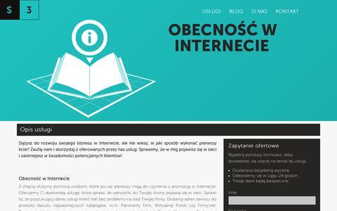 Screenshot of Maps & Directions Page system3.pl - Obecność w Internecie | System3.pl - captured Sept. 19, 2014