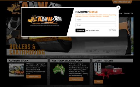 Screenshot of Home Page amw.info - Australian Machinery Wholesale - captured Jan. 23, 2015