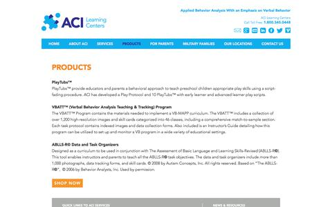 Screenshot of Products Page acilearningcenters.com - Products | ACI Learning Centers - captured Oct. 9, 2017