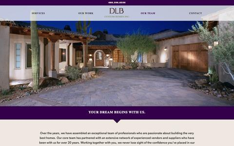 Screenshot of Team Page dlbhomes.com - Our Team - DLB Custom Homes - captured Oct. 7, 2018