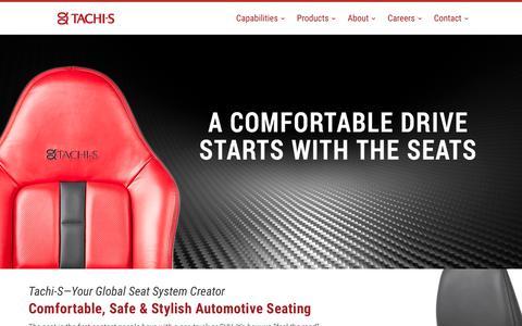 Screenshot of Home Page tachi-s.com - Home - Tachi-S Engineering U.S.A., Inc. - captured Oct. 18, 2018