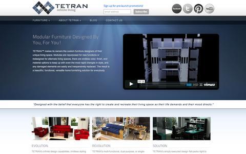 Screenshot of Home Page tetranliving.com - TETRAN Modern Furniture: Infinite Living - captured Oct. 9, 2014