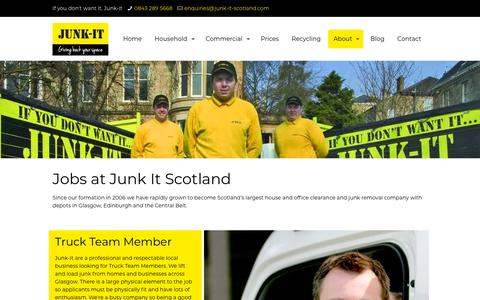 Screenshot of Jobs Page junk-it-scotland.com - Careers | Junk It Scotland - captured Nov. 1, 2018