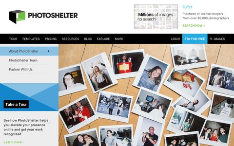 Screenshot of About Page photoshelter.com - About PhotoShelter | PhotoShelter - captured July 19, 2014