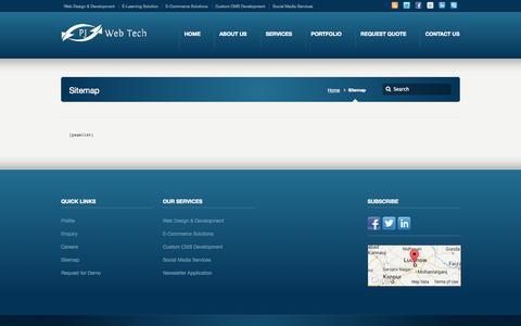 Screenshot of Site Map Page pjwebtech.com - Sitemap - PJ Web Technologies - captured Oct. 1, 2014