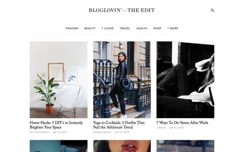 Screenshot of Blog bloglovin.com - Bloglovin'—the Edit - captured Jan. 13, 2016