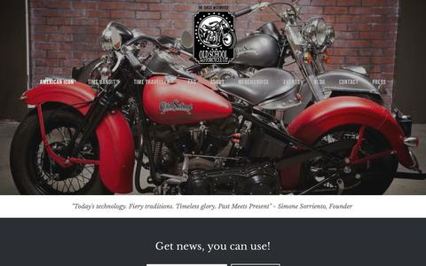 Screenshot of Home Page oldschoolmotorcycles.com - Old School Motorcycle Company™ - captured Aug. 11, 2015