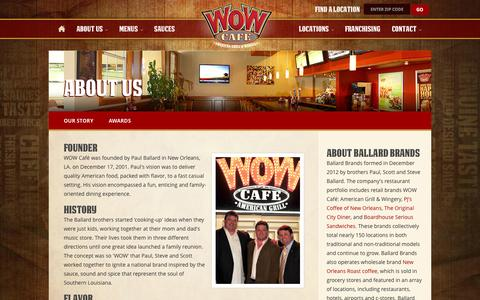 Screenshot of About Page wowcafe.com - About Us : WOW Cafe - captured Oct. 6, 2014