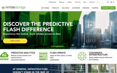 Nimble Storage Enterprise Data Storage - Predictive Flash Platform | Nimble Storage