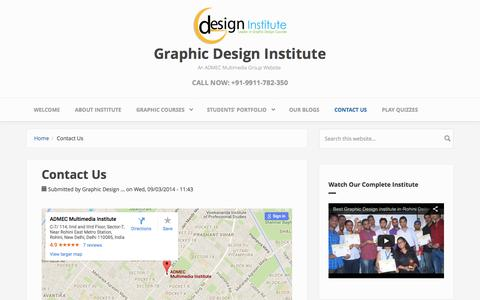 Screenshot of Contact Page graphic-design-institute.com - contact graphic design institute, graphic design institute delhi - captured June 3, 2016