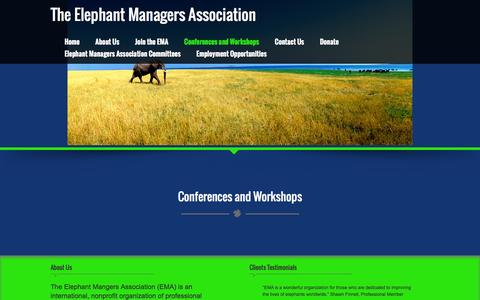Screenshot of Testimonials Page elephantmanagers.com - Conferences and Workshops – The Elephant Managers Association - captured May 14, 2016