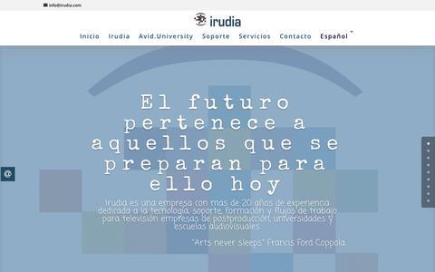 Screenshot of Home Page irudia.com - Irudia - captured Dec. 10, 2018