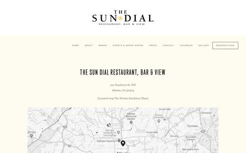 Screenshot of Maps & Directions Page sundialrestaurant.com - Directions & Parking — The Sun Dial Restaurant, Bar & View - captured Oct. 18, 2018
