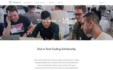 Out in Tech Scholarship · Thinkful