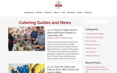Screenshot of Press Page tallguyandagrill.com - Catering Guides, Tips and News | Tall Guy and a Grill Catering - captured Oct. 18, 2018