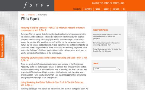 White Papers | Forma Life Science Marketing