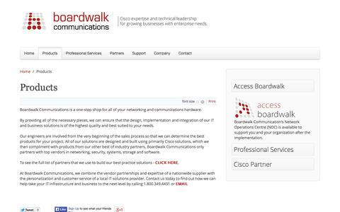 Screenshot of Products Page bdwalk.com - Products - captured Oct. 5, 2014