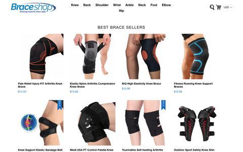 Screenshot of Home Page braceshop.com - Brace Shop – Braces and Supports, Knee Braces, Ankle Braces & More - captured March 17, 2019