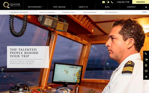 Screenshot of Team Page quasarex.com - Galapagos Islands Guides & Crew - Galapagos Naturalists - captured Nov. 1, 2018