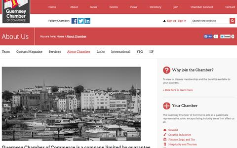Screenshot of About Page guernseychamber.com - About Chamber   Guernsey Chamber of Commerce - captured Nov. 2, 2014
