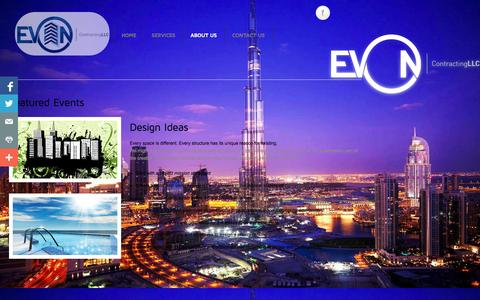 Screenshot of About Page evoncontracting.com - About Us - captured Oct. 1, 2014