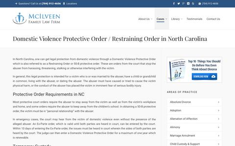 Getting a Restraining Order in NC | Charlotte NC Divorce Lawyer & Family Law Attorneys - McIlveen Family Law