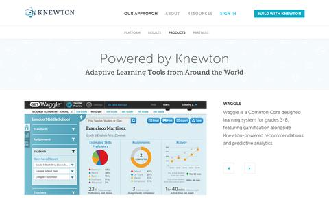 Screenshot of Products Page knewton.com - Knewton-Powered Learning Products | Knewton - captured July 3, 2016