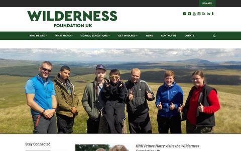 Screenshot of Blog Press Page wildernessfoundation.org.uk - Blog | Wilderness Foundation UK - captured Oct. 24, 2017