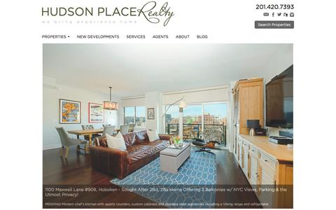 Screenshot of Home Page hudsonplacerealty.com - Hoboken Condos for Sale and Hoboken Apartments for Rent | Hudson Place Realty | Hoboken & Jersey City Real Estate Listings - captured July 18, 2016