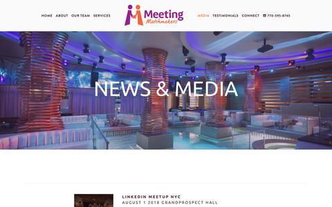 Screenshot of Press Page meetingmatchmakers.com - Media — Meeting Matchmakers - captured Oct. 17, 2018
