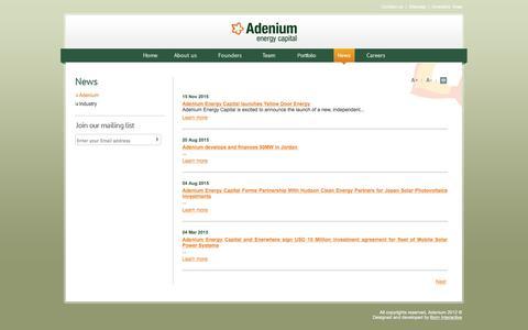 Screenshot of Press Page adeniumcapital.com - Adenium - captured Feb. 5, 2016