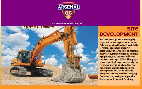 Screenshot of Home Page arsenalgc.com - Arsenal G. C.  - Licensed, Bonded , Insured - Nogales, Ariozna - captured Oct. 4, 2014
