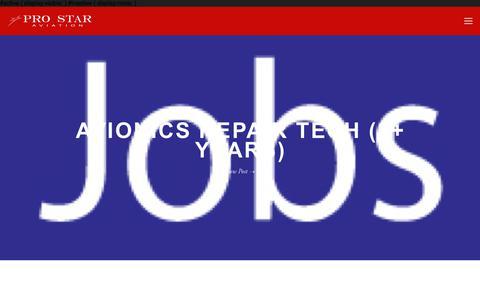 Screenshot of Jobs Page prostaraviation.com - Jobs — Pro Star Aviation - captured July 22, 2018
