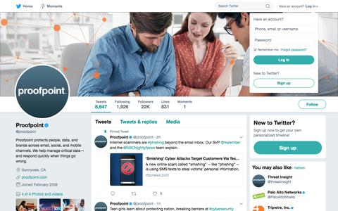 Proofpoint (@proofpoint) | Twitter
