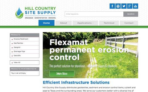 Screenshot of Home Page Locations Page hcsitesupply.com - HC Site Supply   GeoTextiles   Sediment Control   Erosion Control Products   Texas - captured Jan. 30, 2016