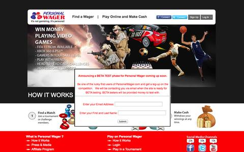 Screenshot of Home Page Login Page personalwager.com - PersonalWager - captured Oct. 2, 2014