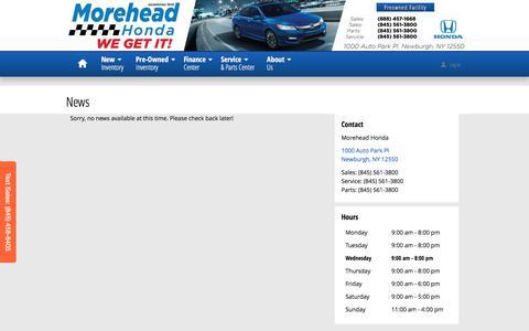 Screenshot of Press Page moreheadhonda.com - Morehead Honda | New Honda dealership in Newburgh, NY 12550 - captured Dec. 22, 2016