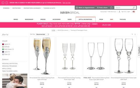 Wedding Champagne & Toasing Flutes | David's Bridal
