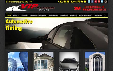 Screenshot of Home Page vipcenters.com - VIP Auto Customs - captured Oct. 6, 2014