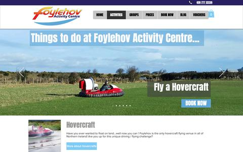 Screenshot of About Page foylehov.com - Things to do in Northern Ireland at Foylehov Activity Centre - captured Oct. 11, 2018