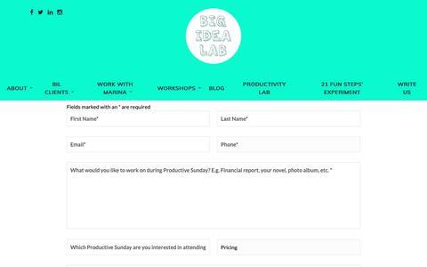 Screenshot of Signup Page beanidealeader.com - Signup – Be an Idea Leader - captured Nov. 6, 2018