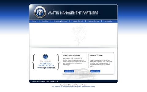 Screenshot of Home Page austinmp.com - Austin Management Partners, Consulting, Management Training, Growth Capital - captured Oct. 4, 2014
